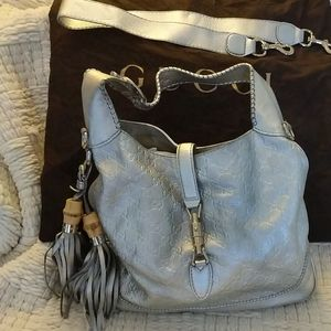 GUCCI AUTHENTIC silver Hobo bag!!